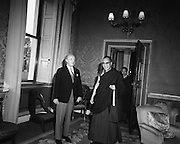 Dalai Lama at Aras an Uachtaráin.10/10/1973