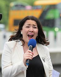Pictured: Monica Lennon MSP speaks at the rally.<br /> <br /> Protesters rallied outside the Scottish Parliament to campaign for trans rights ahead of a debate on broadening the questions in the census by MSP's.<br /> <br /> © Dave Johnston / EEm