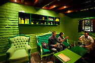 Barranco, nightlife. Interior of Bar Ayahuasca, ranked among the 35 best bars in the world and among the top 5 in South America