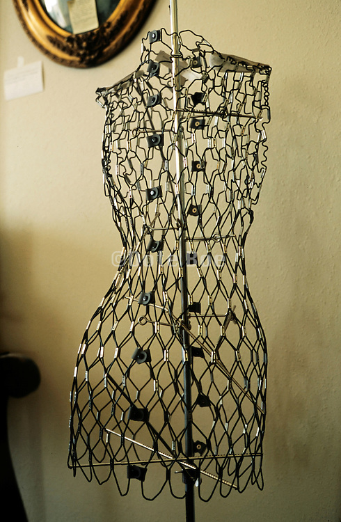 an wire torso mannequin with adjustable figure form