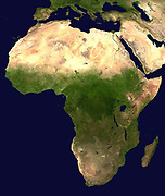 Composite satellite image of the continent of Africa