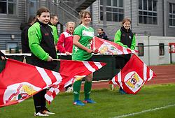 Flag bearers at Stoke Gifford Stadium - Mandatory by-line: Paul Knight/JMP - 19/03/2017 - FOOTBALL - Stoke Gifford Stadium - Bristol, England - Bristol City Women v Millwall Lionesses - Women's FA Cup