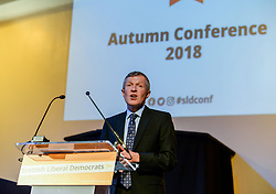Leader of the Scottish Liberal Democrats Willie Rennie delivers his keynote speech at the party's autumn conference in Dunfermline.<br /> <br /> © Dave Johnston / EEm