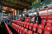 Spectators at the stadium.