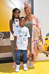 """Torrei Hart and Kids arrives at the """"Despicable Me 3"""" Los Angeles Premiere held at the Shrine Auditorium in Los Angeles, CA on Saturday, June 24, 2017.  (Photo By Sthanlee B. Mirador) *** Please Use Credit from Credit Field ***"""