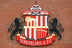 A General View of a Sunderland club crest outside the Stadium of Light  - Photo mandatory by-line: Rogan Thomson/JMP - 07966 386802 - 27/08/2014 - SPORT - FOOTBALL - Sunderland, England - Stadium of Light - Sunderland v Swansea City - Barclays Premier League.