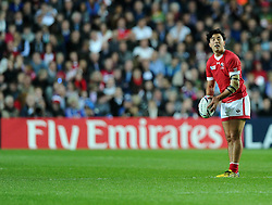 Nathan Hirayama of Canada  - Mandatory byline: Joe Meredith/JMP - 07966386802 - 01/10/2015 - Rugby Union, World Cup - Stadium:MK -Milton Keynes,England - France v Canada - Rugby World Cup 2015
