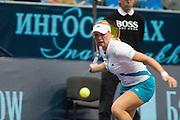Moscow, Russia, 15/10/2004..The WTA Kremlin Cup tennis tournament. Vera Zvonareva is defeated by Anastasia Myskina in women's singles quarter final..