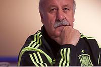 Mediaset presents media coverage of the World Cup soccer in Brazil at Ciudad del Futbol, Madrid. In the pic: Vicente del Bosque. May 27, 2014. (ALTERPHOTOS / Nacho Lopez)