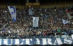 October 3, 2018 - Naples, Italy - SSC Napoli v FC Liverpool - UEFA Champions League Group C.Napoli ultras supporting the team at San Paolo Stadium in Naples, Italy on October 3, 2018. (Credit Image: © Matteo Ciambelli/NurPhoto/ZUMA Press)