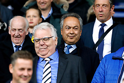 Everton co-owner Farhad Moshiri (centre right) and chairman Bill Kenwright (centre left) in the stands