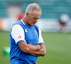 Benetton Treviso's Head Coach Kieran Crowley during the pre match warm up<br /> <br /> Photographer Simon King/Replay Images<br /> <br /> Guinness PRO14 Round 1 - Dragons v Benetton Treviso - Saturday 1st September 2018 - Rodney Parade - Newport<br /> <br /> World Copyright © Replay Images . All rights reserved. info@replayimages.co.uk - http://replayimages.co.uk