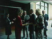 24/08/1984<br /> 08/24/1984<br /> 24 August 1984<br /> Opening of ROSC '84 at the Guinness Store House, Dublin.  Mrs Maeve Hillery; President Patrick Hillery are welcomed to ROSC 1984.