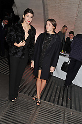 Left to right, PRINCESS MAFALDA-CECILLIA OF BULGARIA and PRINCESS OLIMPIA OF BULGARIA at a private view of 'Valentino: Master Of Couture' at Somerset House, London on 28th November 2012.