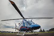 Life Flight helicopter at Oregon Aviation Historical Society.