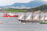 Norway, Randaberg. Tall Ships Race in Stavanger 2011. Sedov and Sandnes.
