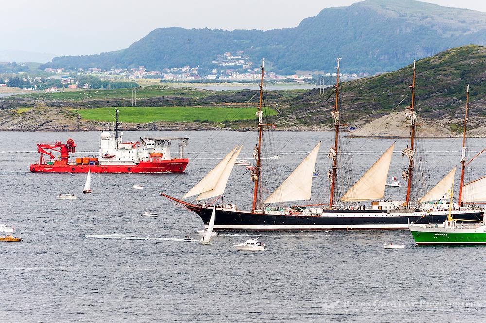 Norway, Randaberg. Tall Ships Race in Stavanger 2011. Sedov and Sandnes.