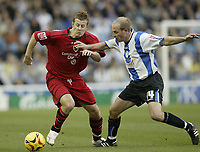 Photo: Aidan Ellis.<br /> Sheffield Wednesday v Cardiff City. Coca Cola Championship. 25/11/2006.<br /> Cardiff's Paul Parry (L) looks to get away from Wednesday's John Hills
