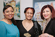 NEW YORK - March 27: Yveline Girault, Jacqueline Girault, and Myriam Nader at FOKAL's The Promise of Haiti II Event. Photographed March 27, 2015 at the Medici Group in NY, NY. 2015 © Cat Laine.
