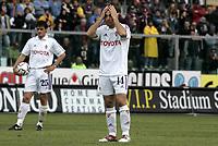 Livorno 17-4-05<br />Livorno Fiorentina Campionato serie A 2004-05<br />nella  foto la delusione di Maresca (dx) e Maggio dopo la sconfitta<br />Foto Snapshot / Graffiti