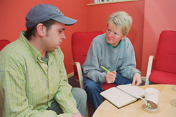 Project manager advising client on tenancy sustainment,