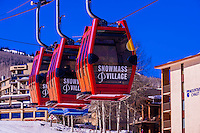 Sky Cab gondola, Snowmass (Aspen) ski resort, Colorado USA.