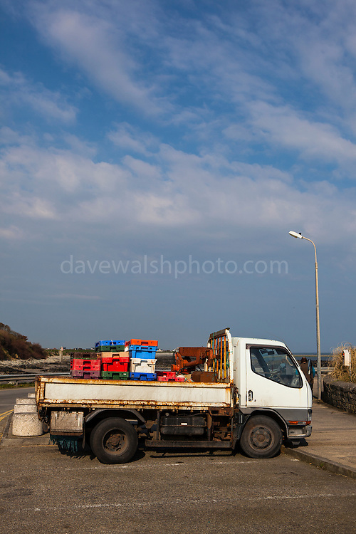 truck with fish boxes, Kilmore Quay, Wexford, Ireland
