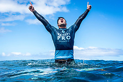 August 19, 2018 - Teahupo'o, Tahiti, French Polynesia - GABRIEL MEDINA of Brazil wins the Tahiti Pro Teahupo'o in French Polynesia. (Credit Image: © Damien Poullenot/WSL via ZUMA Wire/ZUMAPRESS.com)