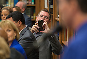 Houston ISD Superintendent Dr. Terry Grier makes a photograph during a roundtable discussion at Sharpstown High School, January 15, 2016.