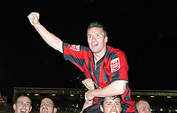 Photo: Tony Oudot.<br /> Milton Keynes Dons v Shrewsbury Town. Coca Cola League 2. Play off Semi Final 2nd Leg. 18/05/2007.<br /> Two goal hero Andy Cooke of Shrewsbury celebrates after the game