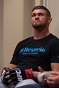 DALLAS, TX - MARCH 14:  Daron Cruickshank waits backstage before his fight against Beneil Dariush during UFC 185 at the American Airlines Center on March 14, 2015 in Dallas, Texas. (Photo by Cooper Neill/Zuffa LLC/Zuffa LLC via Getty Images) *** Local Caption *** Daron Cruickshank