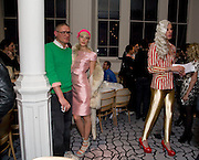 GILES DEACON; AGYNESS DEYN; JOHNNY WOO, Kate Grand hosts a Love Tea and Treasure hunt at Flash. Royal Academy. Burlington Gardens. London. 10 december 2008 *** Local Caption *** -DO NOT ARCHIVE-© Copyright Photograph by Dafydd Jones. 248 Clapham Rd. London SW9 0PZ. Tel 0207 820 0771. www.dafjones.com.<br /> GILES DEACON; AGYNESS DEYN; JOHNNY WOO, Kate Grand hosts a Love Tea and Treasure hunt at Flash. Royal Academy. Burlington Gardens. London. 10 december 2008