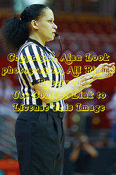 15 March 2012:  Referee Erika Herriman during a first round WNIT basketball game between the Central Michigan Chippewas and the Illinois Sate Redbirds at Redbird Arena in Normal IL