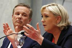 April 29, 2017 - Paris - Nicolas Dupont-Aignan - Marine Le Pen (Credit Image: © Panoramic via ZUMA Press)