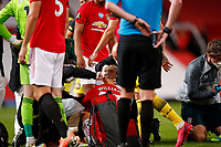 Football - 2019 / 2020 Premier League - Manchester United vs Southampton<br /> <br /> Williams goes off injured  at Old Trafford<br /> <br /> COLORSPORT/LYNNE CAMERON