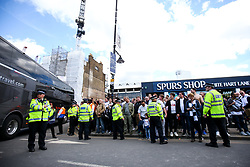 General View outside White Hart Lane as Man Utd arrive in their bus before the final game at the stadium before it's closure for demolition and redevelopment - Rogan Thomson/JMP - 14/05/2017 - FOOTBALL - White Hart Lane - London, England - Tottenham Hotspur v Manchester United - Premier League.