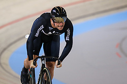 March 2, 2018 - Apeldoorn, Netherlands - New Zealand's Edward Dawkins competes in Men's sprint eight fnals during UCI Track Cycling World Championships  2018 in Apeldoorn, The Netherlans, on 2 March 2018. (Credit Image: © Foto Olimpik/NurPhoto via ZUMA Press)
