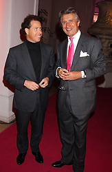 Left to right, VISCOUNT LINLEY and ARNAUD BAMBERGER at a 'A Night in Cartier Paradise' to celebrate a new collection of jewellery by Cartier, held at The orangery, Kensington Palace, London W8 on 25th October 2005.<br /><br />NON EXCLUSIVE - WORLD RIGHTS