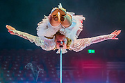 Hand balancer and contortionist Anastasia Trushina also balances just using her mouth - The Moscow State Circus returns to Ealing Common this Christmas with show, 'Miracles'. The show which will run from the 20th of December to the 7th of January 2018.