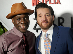 Actors McKinley Belcher III (L) and Jason Butler Harner attending the Netflix Original Ozark screening at The Metrograph on July 20, 2017 in New York City, NY, USA. Photo by Dennis Van Tine/ABACAPRESS.COM