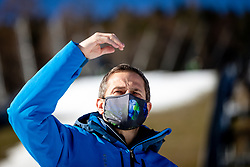 Tomaz Sustersic at preparation of Planica Hill 2 weeks before FIS Ski Flying World Championships 2020, on November 25, 2020 in Planica, Slovenia. Photo by Matic Klansek Velej / Sportida