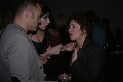 Graham Norton, Ronni Ancona and Ruby Wax. The Almeida Theatre Charity Christmas Gala, to raise funds for the theatre, at the Victoria Miro Gallery, London.  1 December  2005. ONE TIME USE ONLY - DO NOT ARCHIVE  © Copyright Photograph by Dafydd Jones 66 Stockwell Park Rd. London SW9 0DA Tel 020 7733 0108 www.dafjones.com