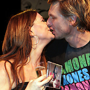 NLD/Hilversum/20080121 -  Start ROK theatertour Laura Vlasblom, Laura en partner Michel Veenman
