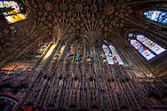 The Thistle Chapel was designed by Robert Lorimer. It contains stalls for the 16 knights, the Sovereign's stall and two Royal stalls.It was finished in 1911.