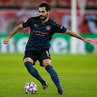 PIRAEUS, GREECE - NOVEMBER 25: İlkay Gündoğan of Manchester City during the UEFA Champions League Group C stage match between Olympiacos FC and Manchester City at Karaiskakis Stadium on November 25, 2020 in Piraeus, Greece. (Photo by MB Media)