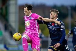 Ayr United's Lawrence Shankland and Falkirk's Patrick Brough. Falkirk 0 v 1 Ayr United, Scottish Championship game played 3/11/2018 at The Falkirk Stadium.