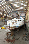 Steamship Manxman in the Pallion Shipyard, Sunderland, UK, June 2011