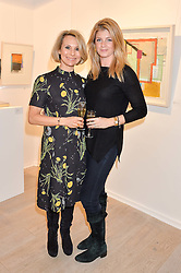 Left to right, ROBERTA MOORE and AURORE OGDEN at a private view entitled Stop Making Sense featuring work by Georgiana Anstruther and Carol Corell held at Lacey Contemporary, 8 Clarendon Cross, London on 9th March 2016.
