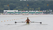 Poznan, POLAND, 21st June 2019, Friday, Morning Heats, NZL W1X, Emma TWIGG, FISA World Rowing Cup II, Malta Lake Course, © Peter SPURRIER/Intersport Images,<br /> <br /> 11:57:17
