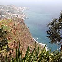 Europe, Portugal, Madeira. An overlook along the coast of Madeira.